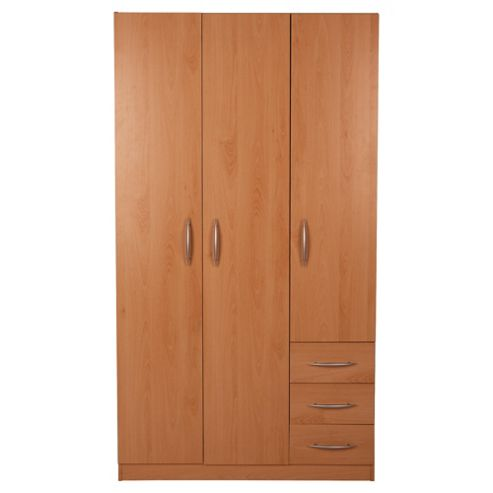 Ashton 3 Door Wardrobe, Beech