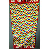 Country Club Microfibre Beach Towel, Multi ZigZag