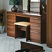 Welcome Furniture Sherwood Kneehole Dressing Table - Walnut