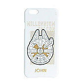 Star Wars Force Awakens Personalised iPhone 6 White Cover Millennium Falcon