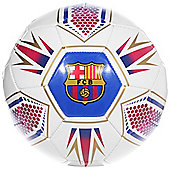 FC Barcelona Hex Official Supporter Football Soccer Ball - Size 5