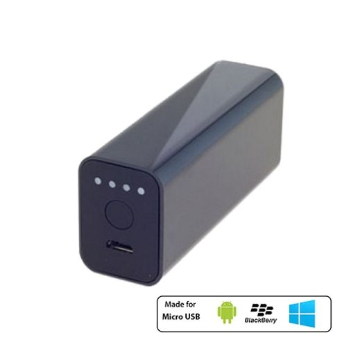 Powerocks Stone Universal External Battery Charger 3000mAh Black by Cleverboxes