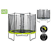 Twist 10ft Trampoline, Green & Grey