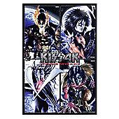 Gloss Black Framed Kiss 4K Legends Never Die Poster
