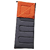 Tesco 300gsm Rectangular Sleeping Bag Grey/Orange