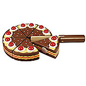 Bigjigs Toys BJ375 Wooden Play Food Chocolate Party Cake