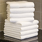 Catherine Lansfield Zero Twist White Hand Towels - Pack of 8