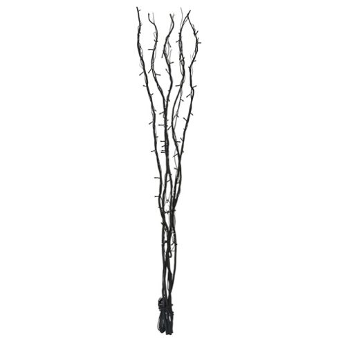 120cm Decorative Twig Lights in Black