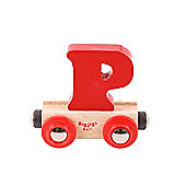 Bigjigs Rail BR116 Name Letter P (Colours Vary)