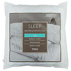 TESCO STD MATTRESS PROTECTOR POLY/COTTON SB