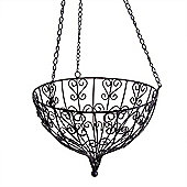 Large Round Hanging Metal Decorative Garden Planter Accessory