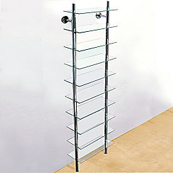 Splash - Wall Mounted Glass Bathroom Storage Shelves - Clear