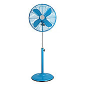 Premier Housewares Floor Standing Fan - Blue