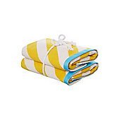Linea Neo Geo Hand Towel Pack Of 2 In Yellow