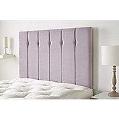 Aspire Furniture Portmoor Headboard in Katsuro Linen Fabric - Lilac - Super King 6ft