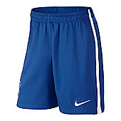 2014-15 Brazil Nike Home Shorts (Blue) - Kids - Blue