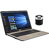 "ASUS X540LA-XX004T 15.6"" Laptop With ACME Mini Portable Speaker"