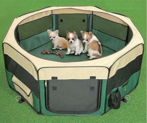 3Petzzz Medium Pet Play Pen in Green