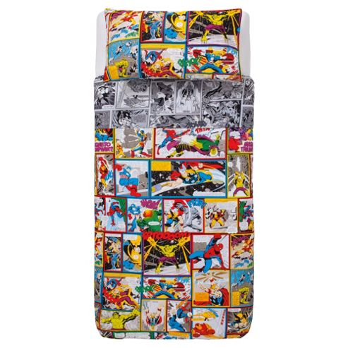 Marvel Comic Bright Action Duvet Set Single