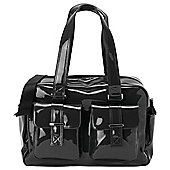 Oi Oi Carry All Baby Changing Bag, Gunmetal Patent