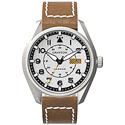 Grayton Harrier Mens Leather 24 hour Date Watch GR-0014-005.2