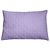 Homescapes Ultrasonic Mauve Quilted Embossed Filled Cushion, 50 x 75 cm