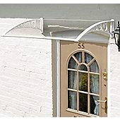 1m Door Canopy White