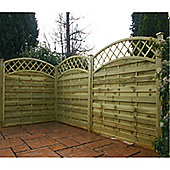 6FT Pressure Treated Convex Horizontal Weave + Trellis - 1 Panel Only