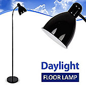 Adjustable Daylight Floor Standing Lamp in Black
