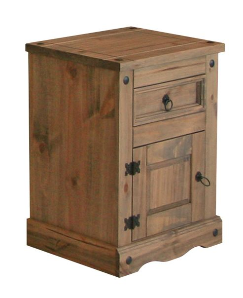 Home Essence Corona 1 Drawer Bedside Table