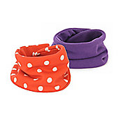 Snoodie Bib Set - Red Spot & Purple