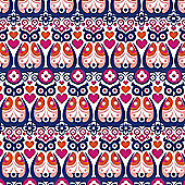 Kelly Hyatt Wrap - Folk Owls