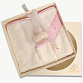 Cuddledry Newborn Bathtime Gift Set - Pink Gingham