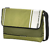 "Hama AHA Hyde Laptop Messenger Bag for up to 14.1"" Green & White"