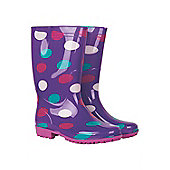 Rain Spot Women's Wellie - Purple