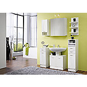 Posseik Nizas 80 x 30cm Lower Wall Cabinet - High Gloss White - Anthracite