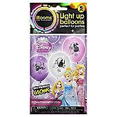 DISNEY PRINCESS  LIGHT UP BALLOONS 5pk