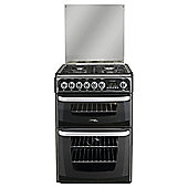 Hotpoint CH60DHKFS, Black, Gas Cooker, Double Oven, 60cm