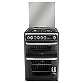 Cannon by Hotpoint CH60DHKFS, Freestanding, Gas Cooker, 60cm, Black, Twin Cavity, Double Oven