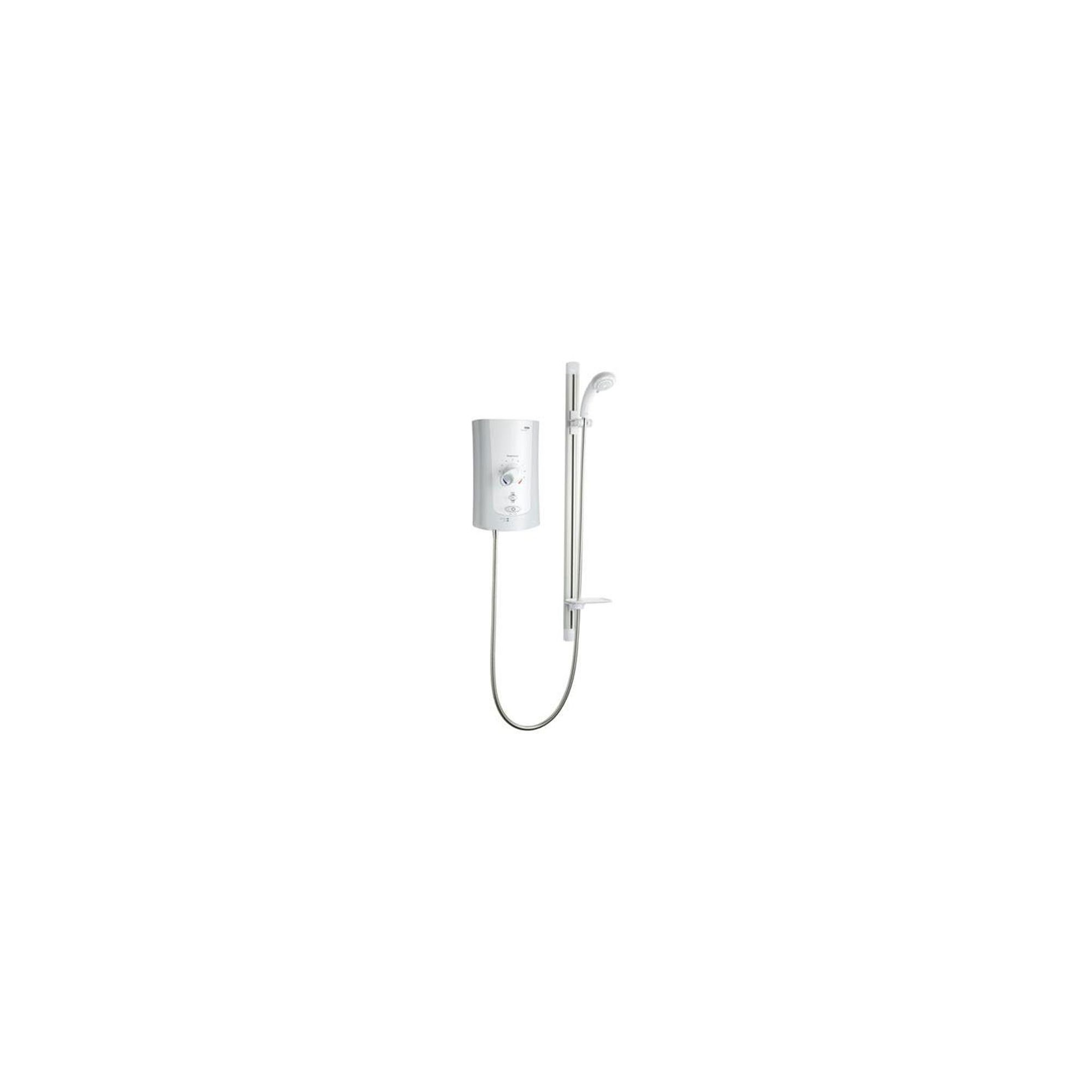 Mira Advance Flex 9.0 kW Electric Shower for LP Systems, White/Chrome at Tesco Direct