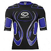 Optimum Inferno Rugby Body Protection Shoulder Pads Black/Blue - Black