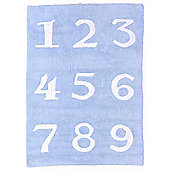 Lorena Canals Numeros Blue Children's Rug - 120 cm W x 160 cm D (3 ft 11 in x 5 ft 3 in)