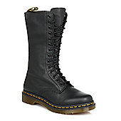 Dr Martens Womens Black Virginia Knee High Leather Boots - Black