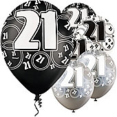 21st 12' Latex Balloons (6pk)