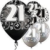 21st 12' Latex Balloons (6pk)