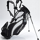 John Letters Unisex Torrance Golf Bag (Stand) in Black & White