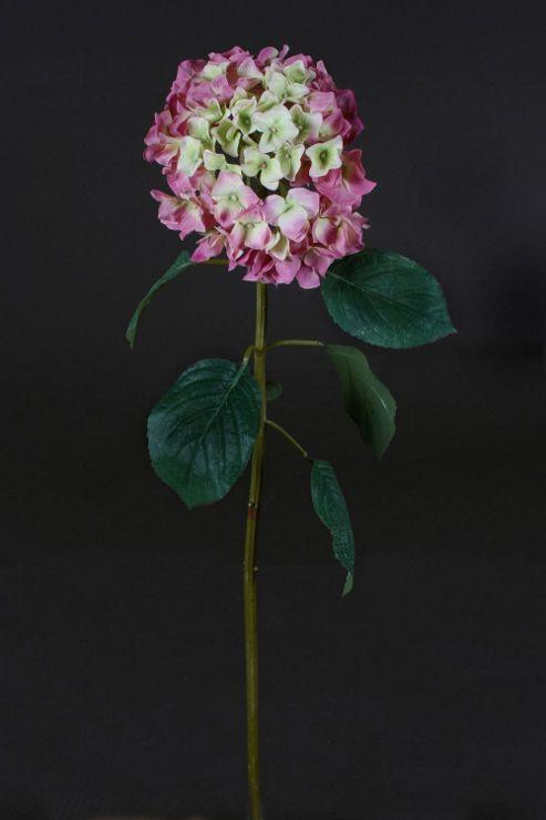 Artificial 90cm Single Stem Pink Hydrangea