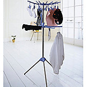 Spin - Circular Indoor Clothes Airer / Dryer - Silver / Blue