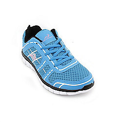 Woodworm Sports Fws Ladies Running Shoes / Trainers Sky/Pink Size 7