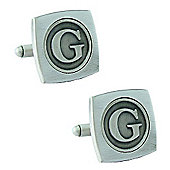 Antiqued Silver Plated Initial - G Cufflink - Single